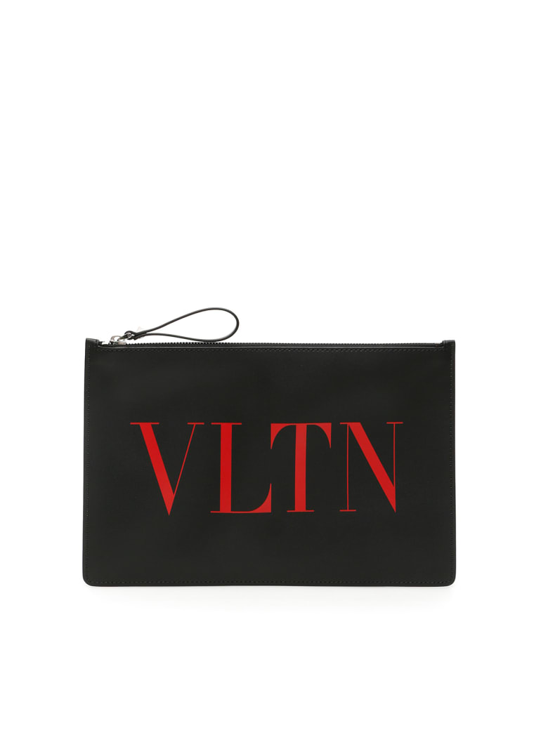 Valentino Garavani Vltn Pouch - NERO ROUGE PUR (Black)