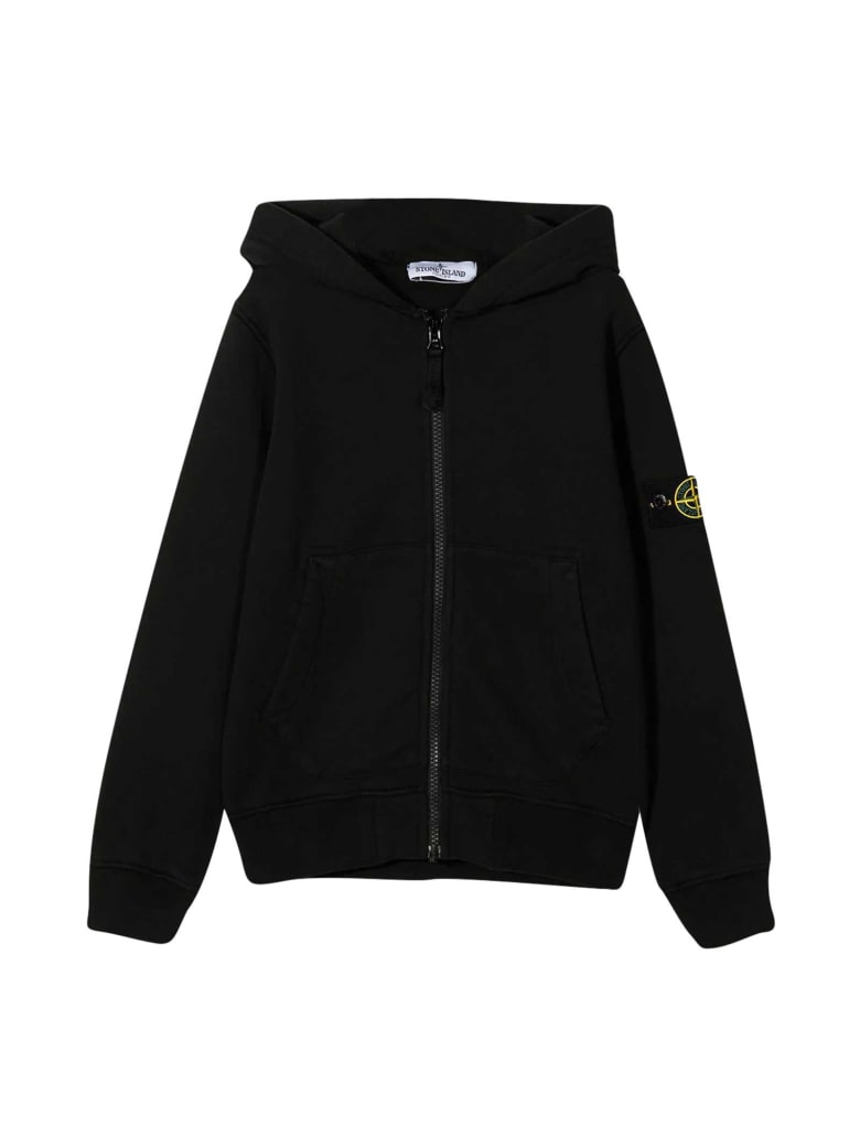 Stone Island Junior Black Sweatshirt - Nero