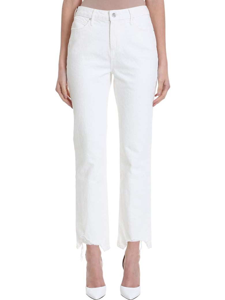 RTA Army Frayed Cropped Jeans - white