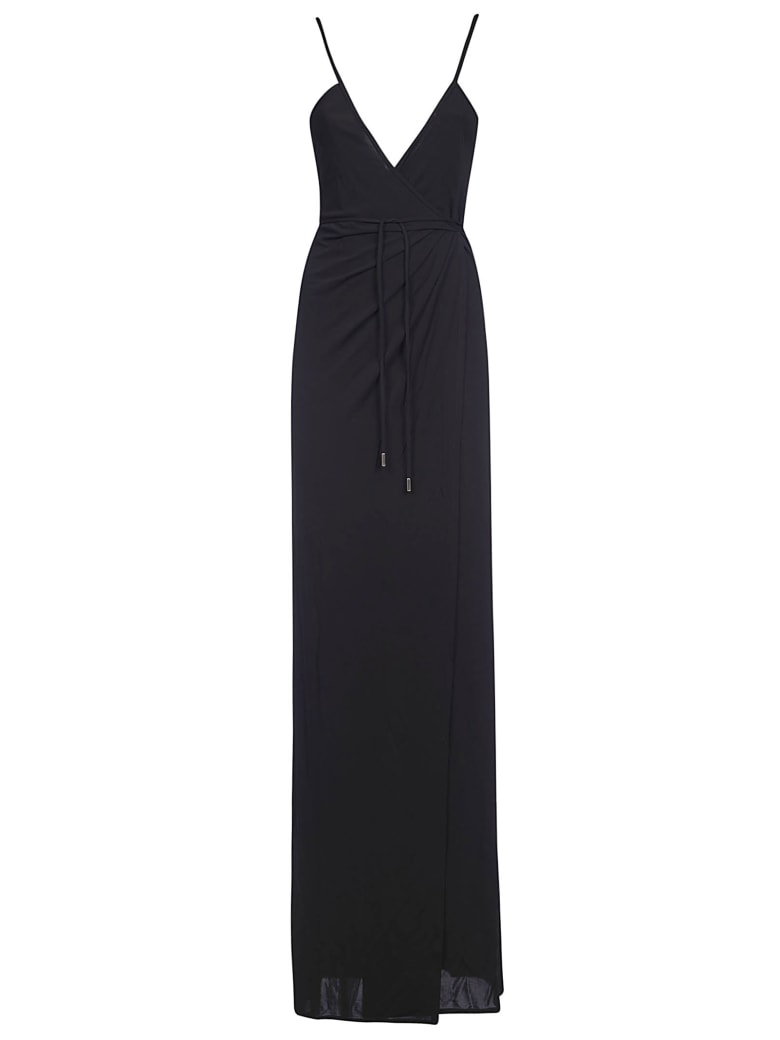 Dsquared2 Laced Waist Long Dress - Black