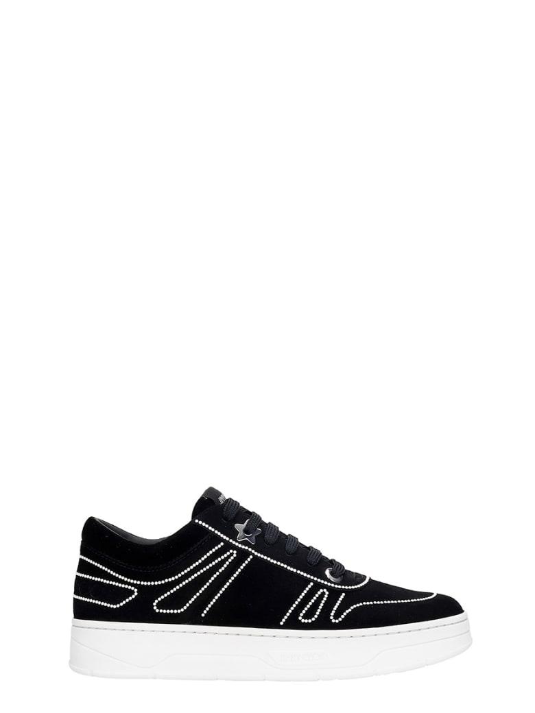Jimmy Choo Hawaii Sneakers In Black Suede - black