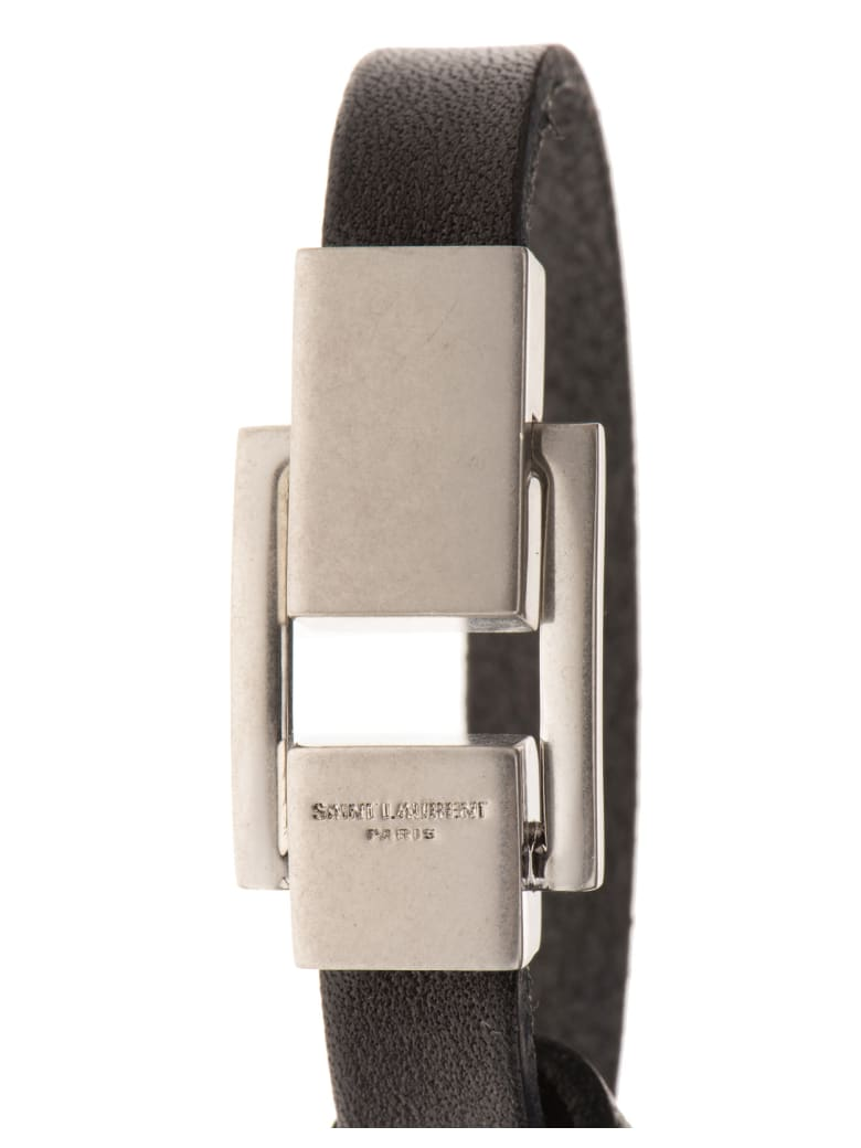 Saint Laurent Metal Clip Bracelet - Nero
