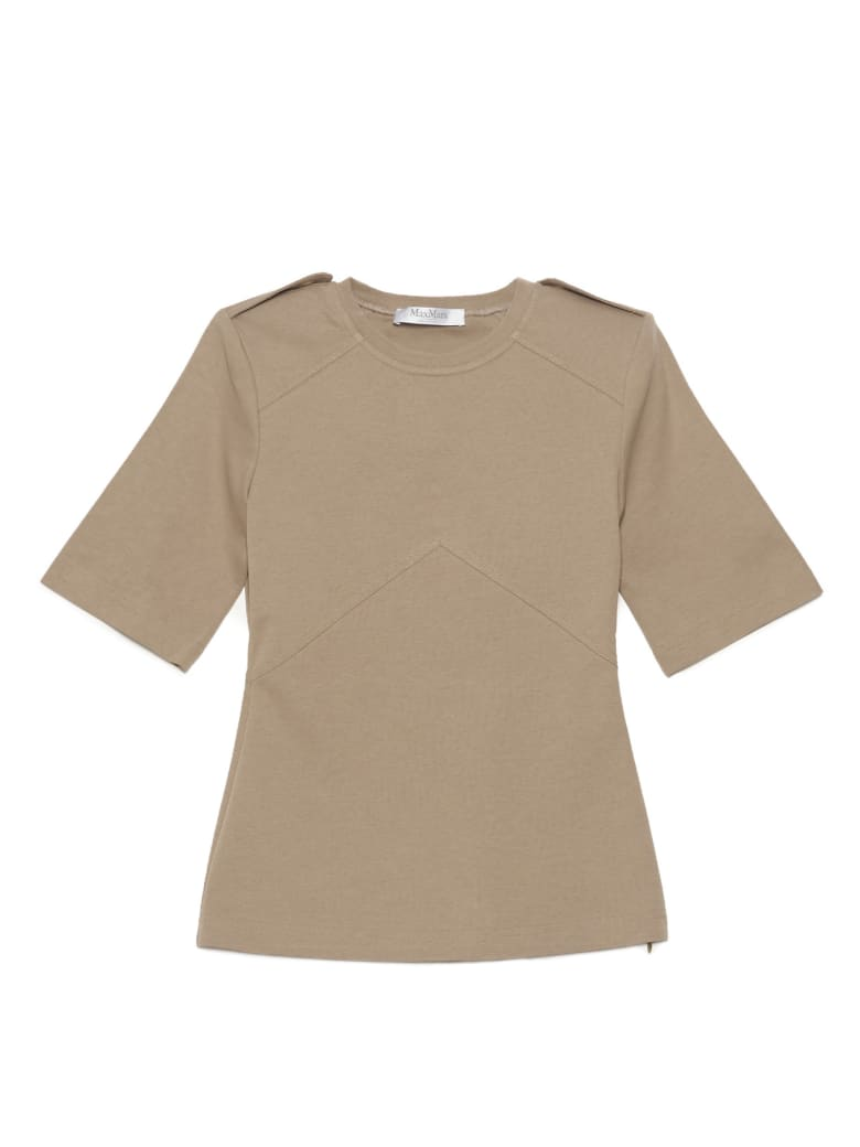 Max Mara 'parole' T-shirt - Beige