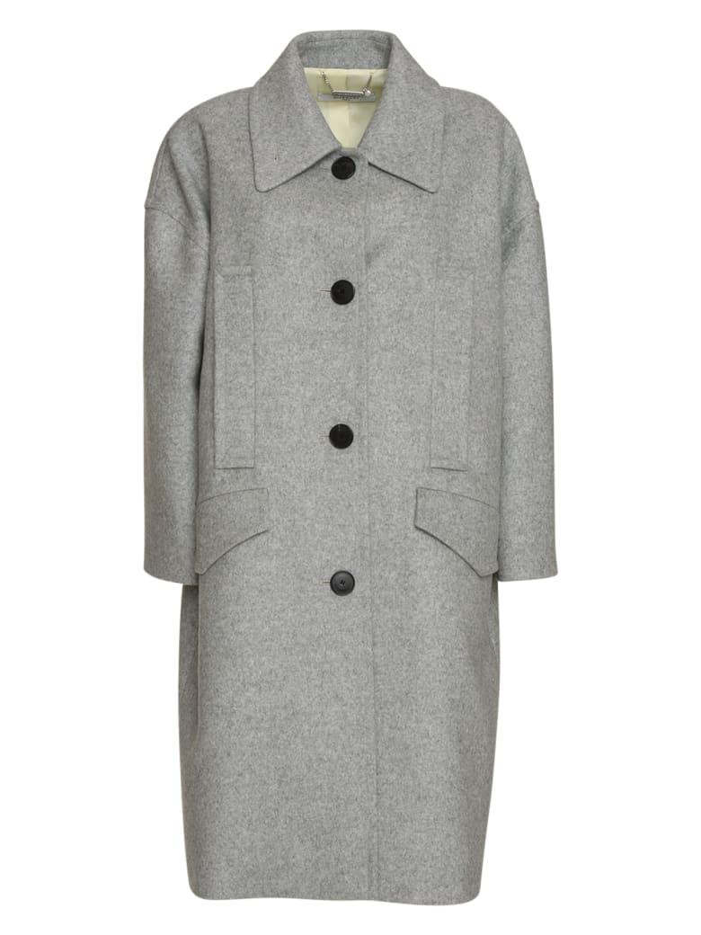 Givenchy Oversized Coat In Grey - GRIGIO