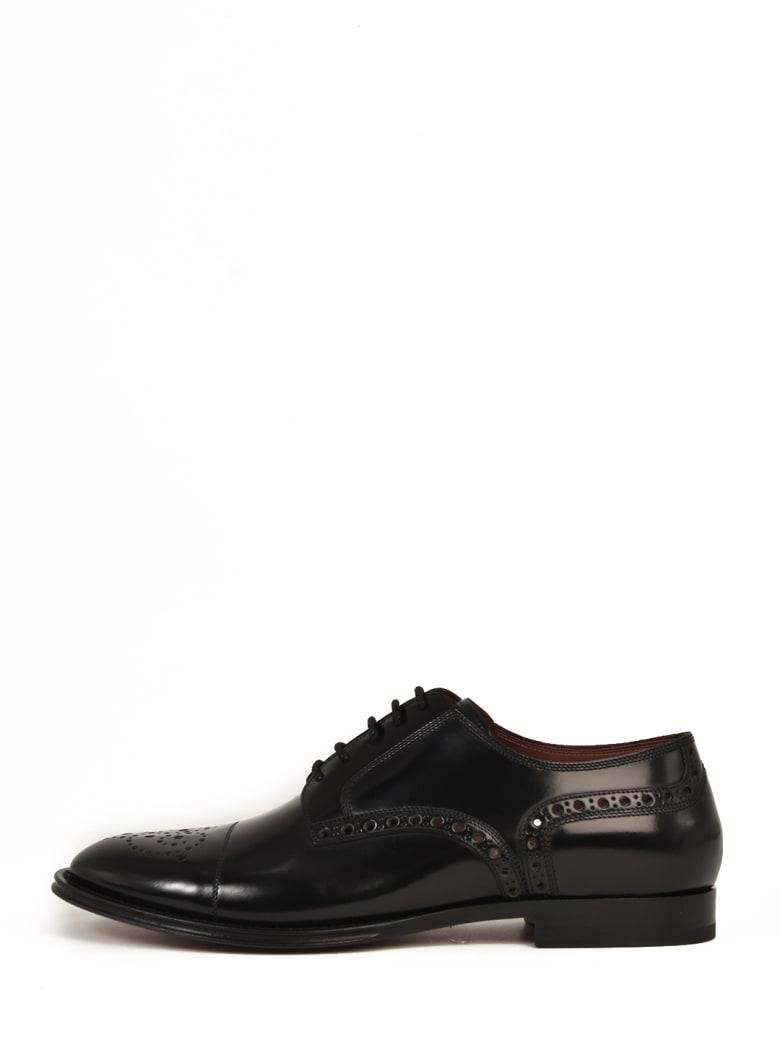 Dolce & Gabbana Duilio Leather Shoes - Black