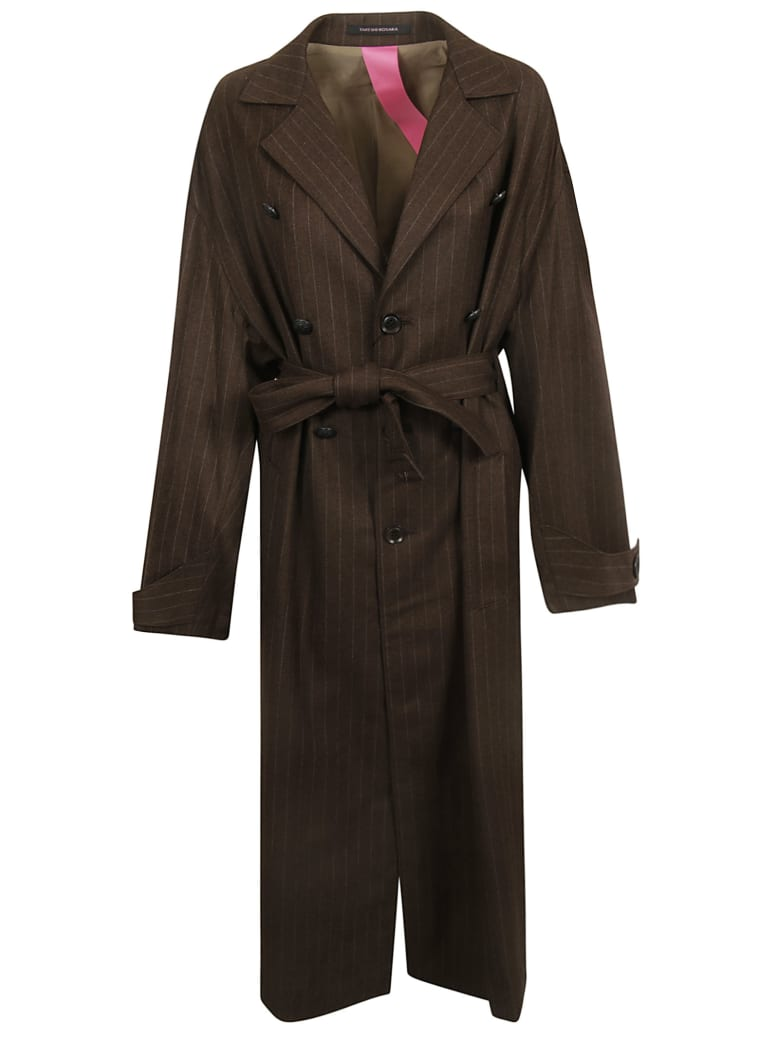 Y's Belted Coat - Chocolate