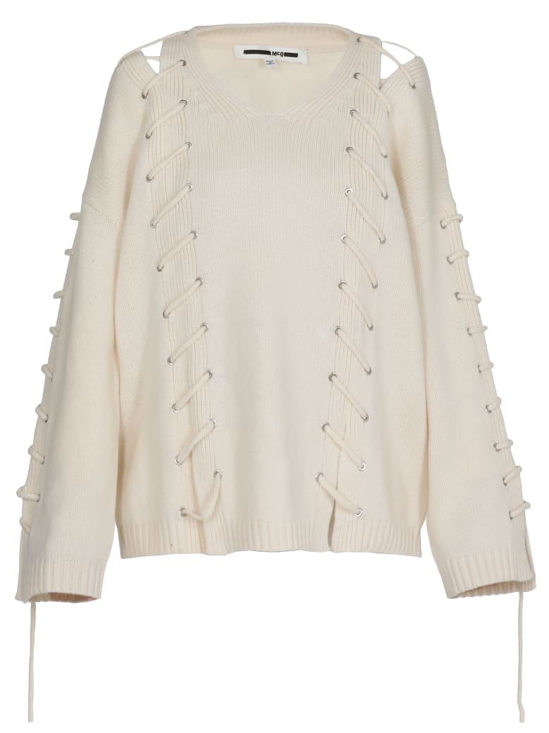 McQ Alexander McQueen Wool And Cashmere Sweater - CHALK WHITE