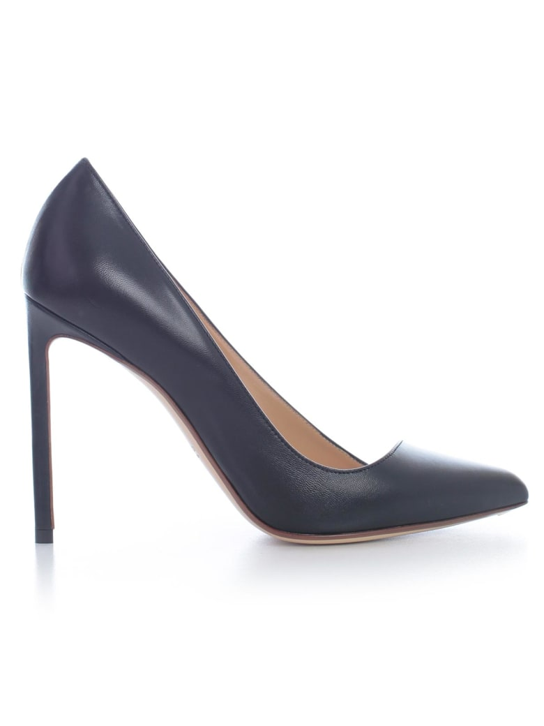 Francesco Russo Pumps Kid Leather 105 Heel - Black