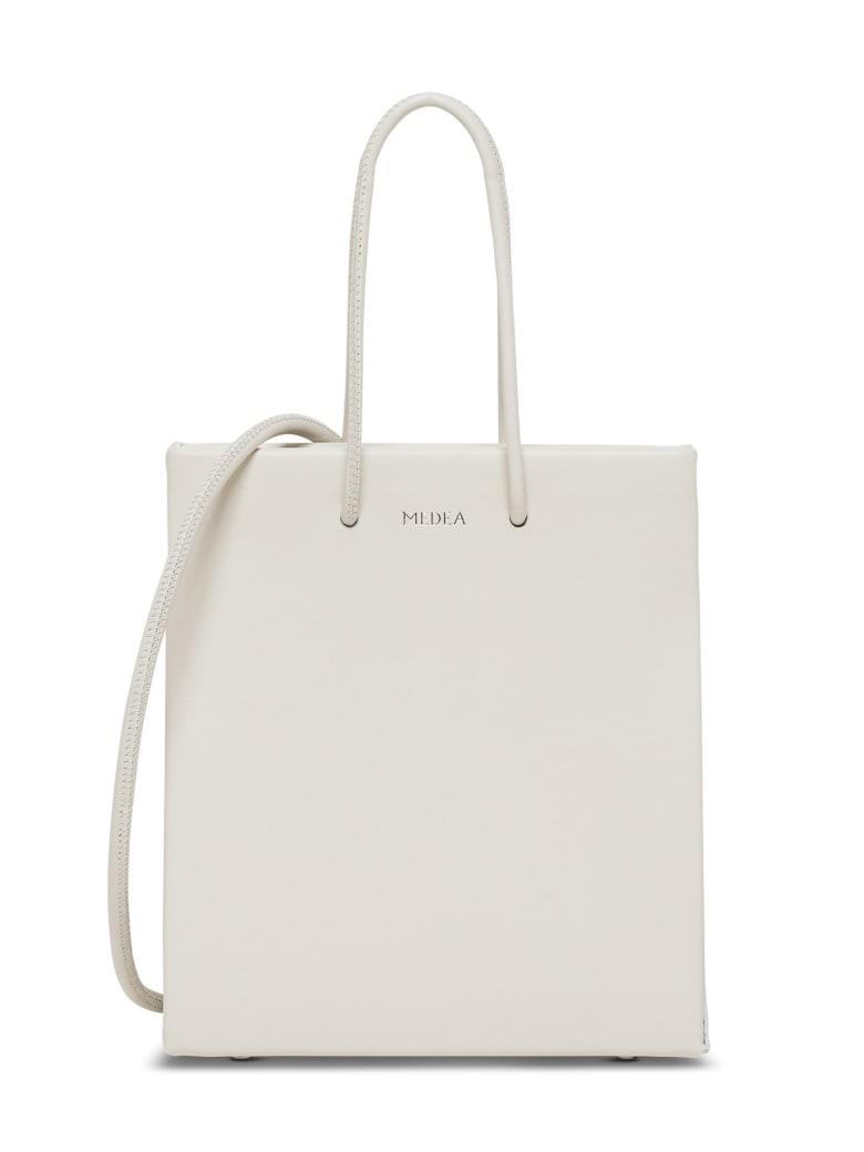 Medea Short Long Crossbody Bag - White