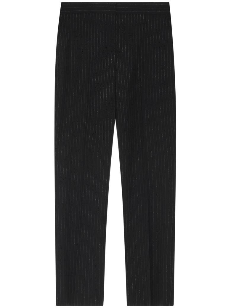 Alexander McQueen Trousers - Black/silver