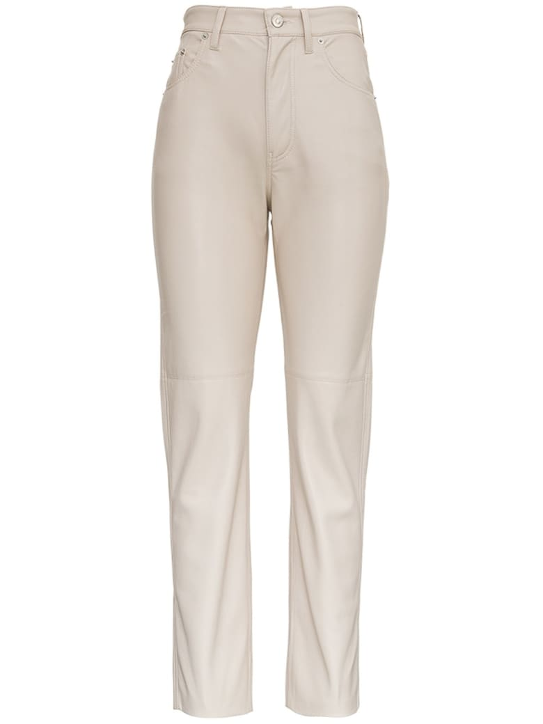 Nanushka Vinni Beige Vegan Leather Pants - Beige