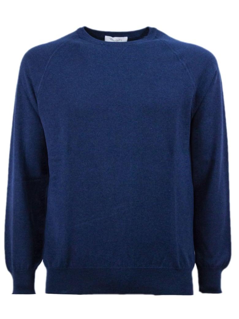 Cruciani Blue Cotton Sweater - Blu