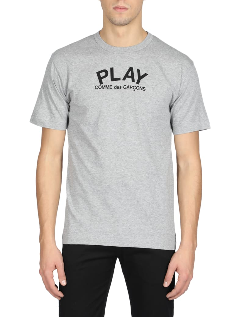 Comme des Garçons Play Short Sleeve T-Shirt - Grigio