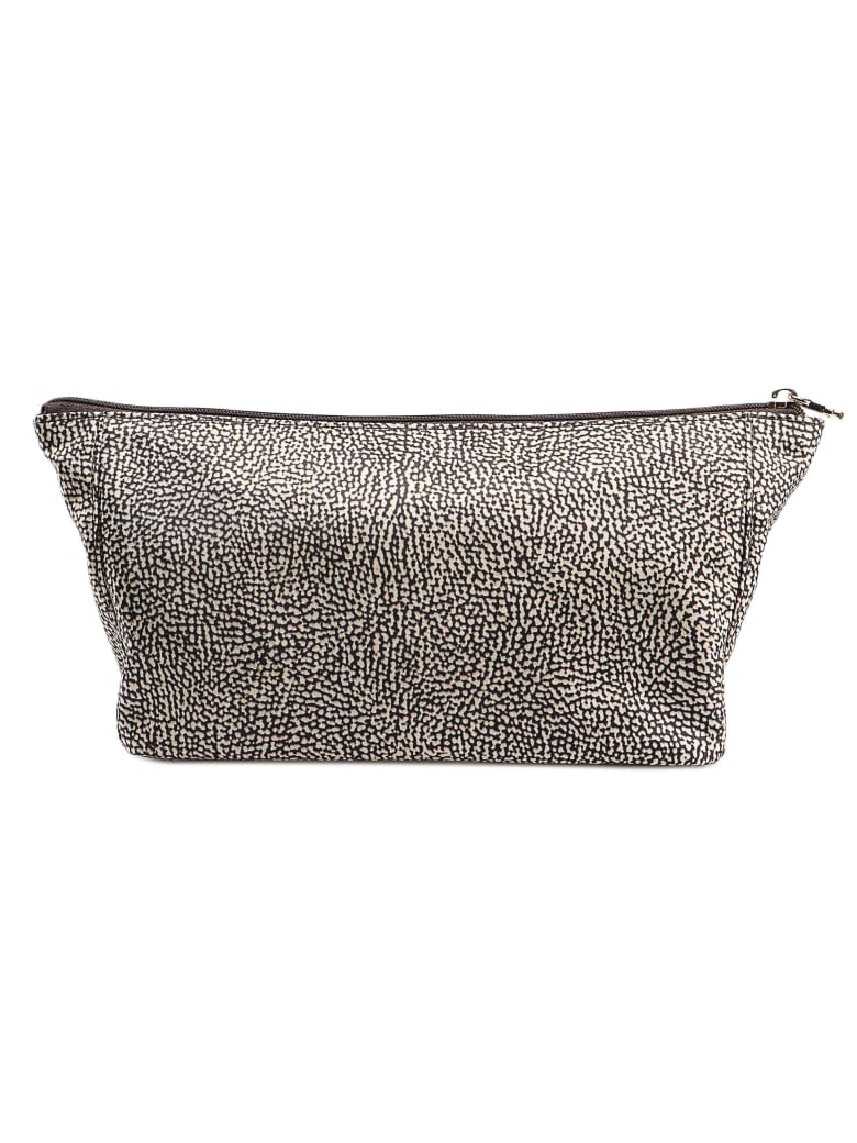 Borbonese Printed Pouch - Op Classico/marrone