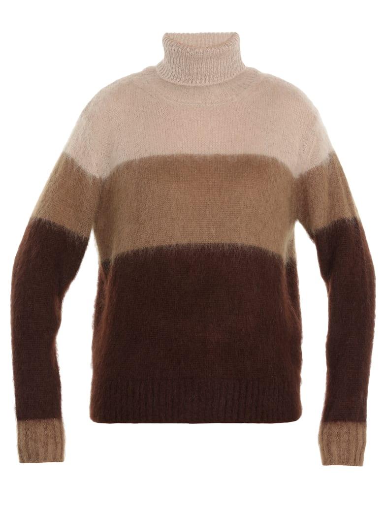 Golden Goose Turtle Neckline Sweater - BROWNSTRIPES