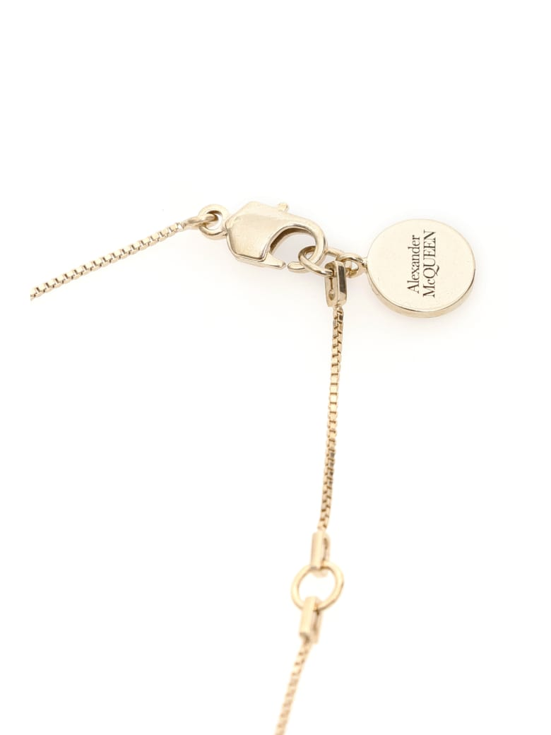 Alexander McQueen Pave Skull Necklace - Mix