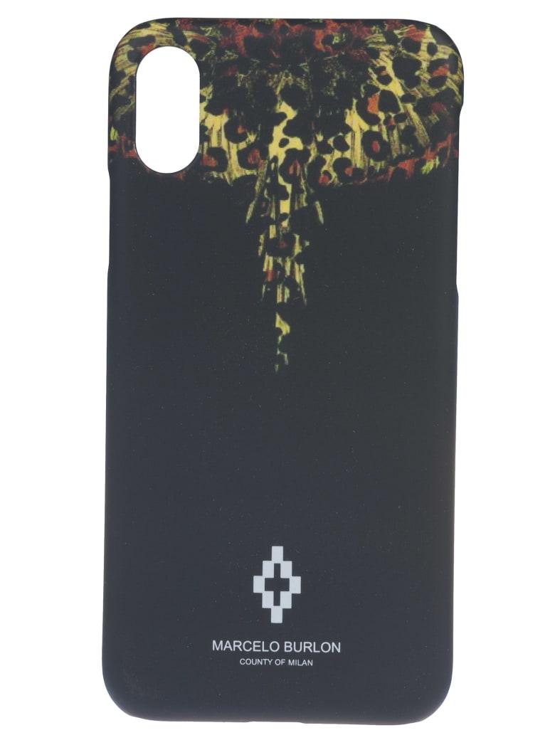 Marcelo Burlon Leopard Wings Iphone X Case - Black/Multicolor