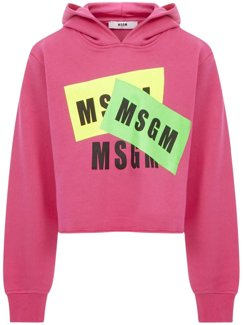 MSGM Kids Sweatshirt - Fuxia