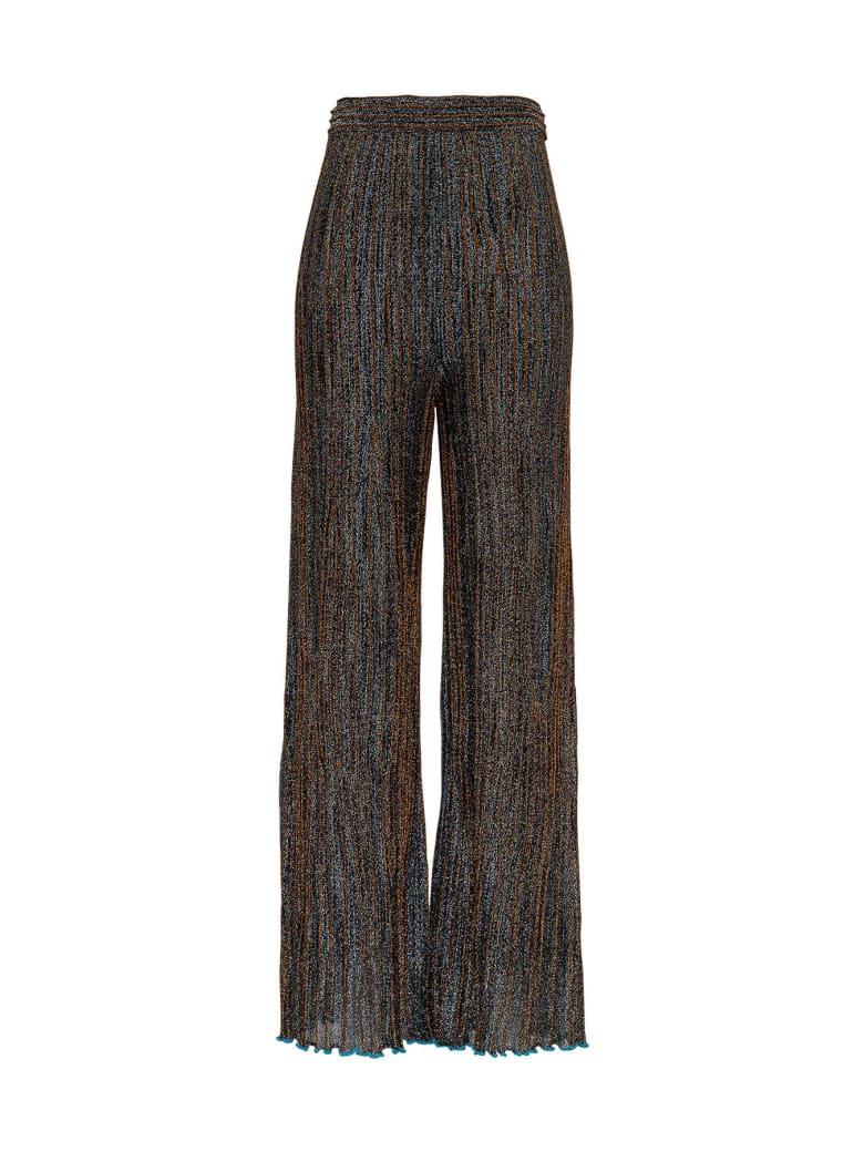 M Missoni Lurex Pants In Viscose Blend - Blu