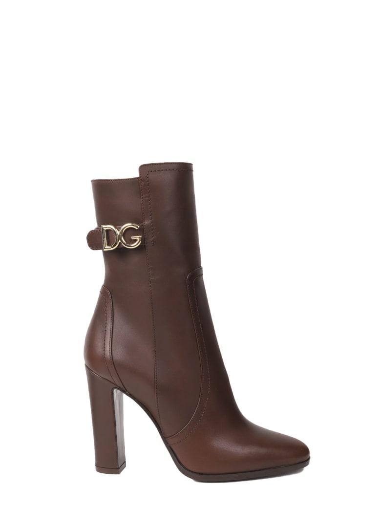 Dolce & Gabbana Brown Caroline Boots - Testadimoro