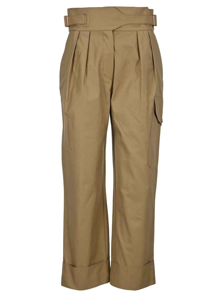 See by Chloé See By Chloe' Pleated Waist Trousers - GROVE BROWN