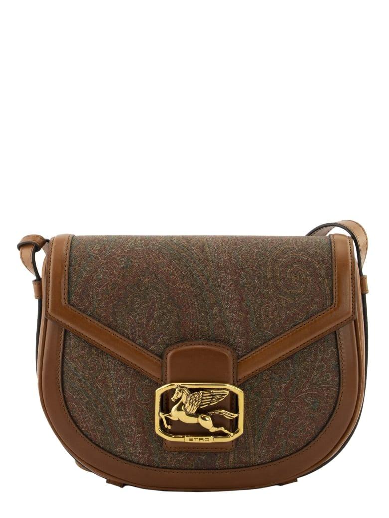 Etro Pegaso Paisley Crossbody Bag - Brown