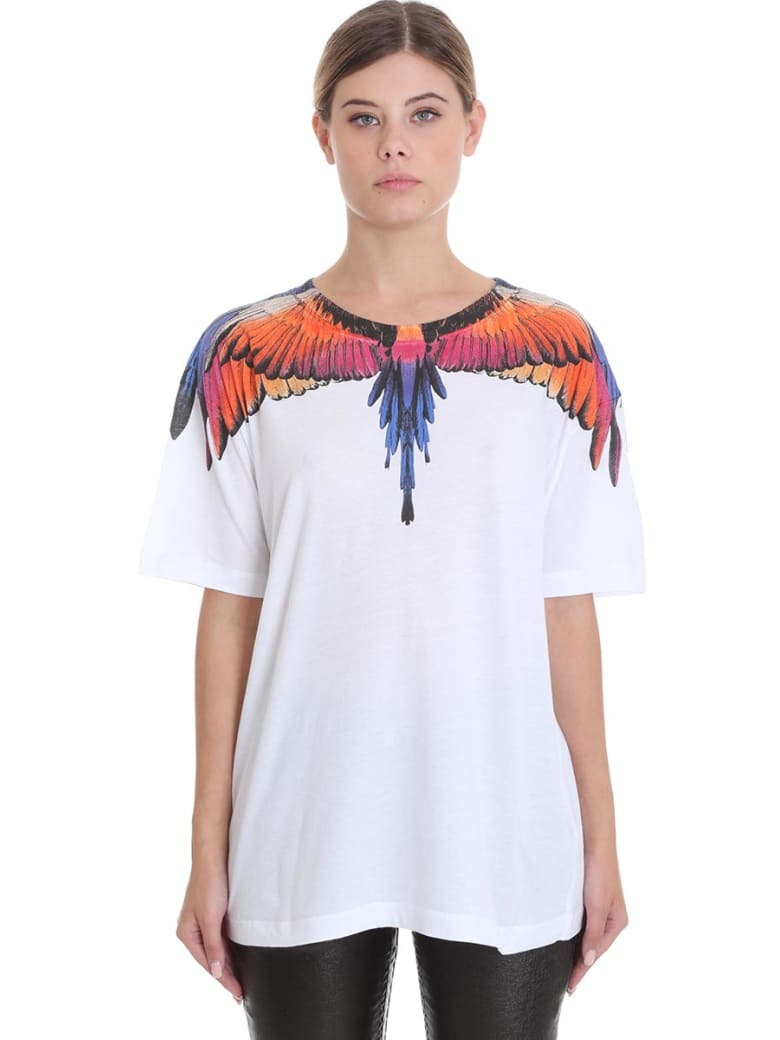 Marcelo Burlon T-shirt In White Cotton - white