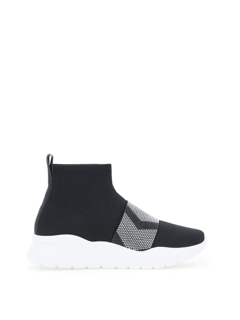 Bally Brixie Sock Sneakers With Crystals - BLACK (Black)