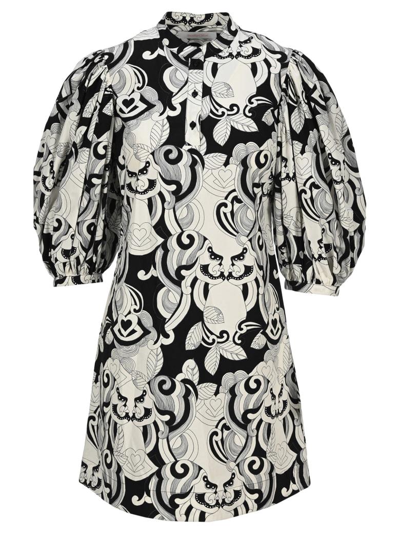 See by Chloé See By Chloe' Graphic Print Mini Dress - BLACK WHITE