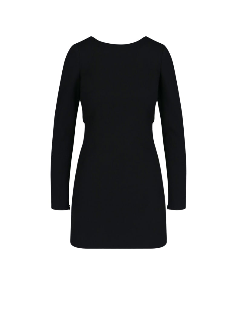 Saint Laurent Rear Knot Mini Dress - Black