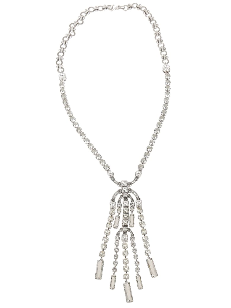 Lanvin Crystal-embellished Necklace - Silver