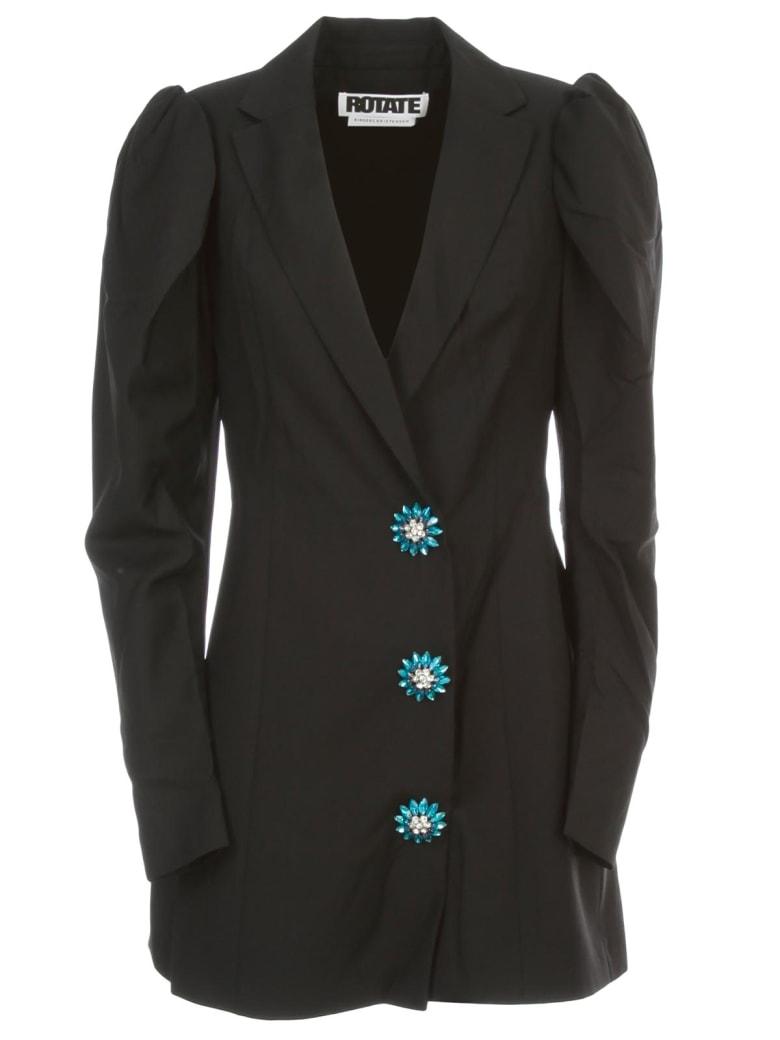 Rotate by Birger Christensen Carol Plain Dress L/s Single Breasted - Pirate Black