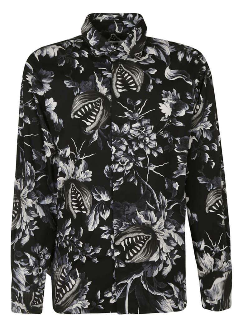 MSGM Tropical Print Shirt - Black