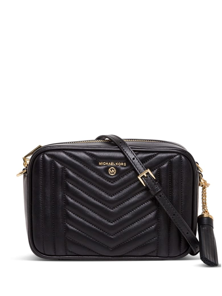 MICHAEL Michael Kors Jet Set Charm Crossbody Bag In Quilted Leather - Black