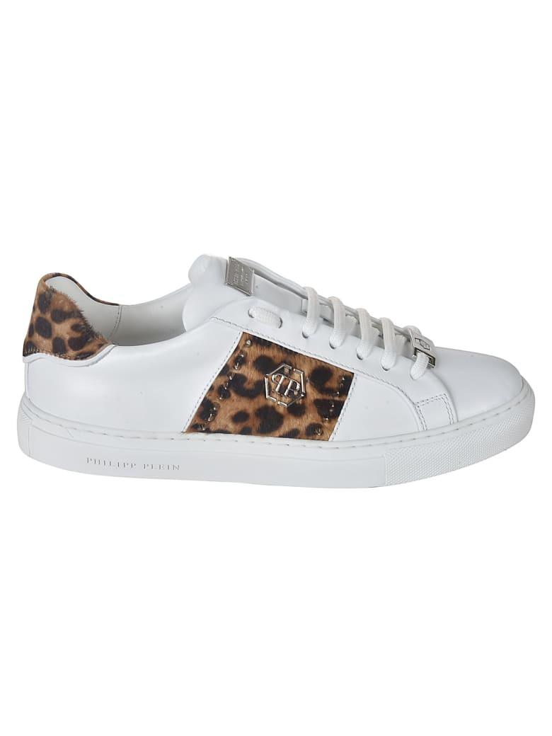 Philipp Plein Lo-top Leopard Sneakers - White