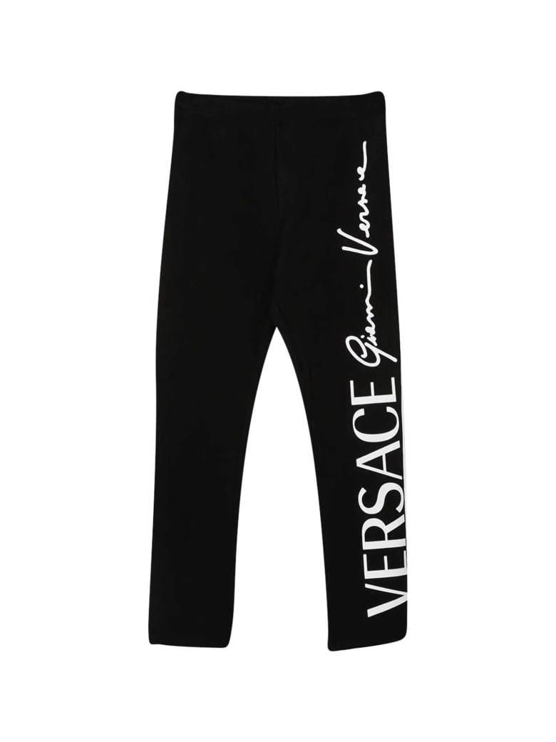 Young Versace Black Leggings - Nero