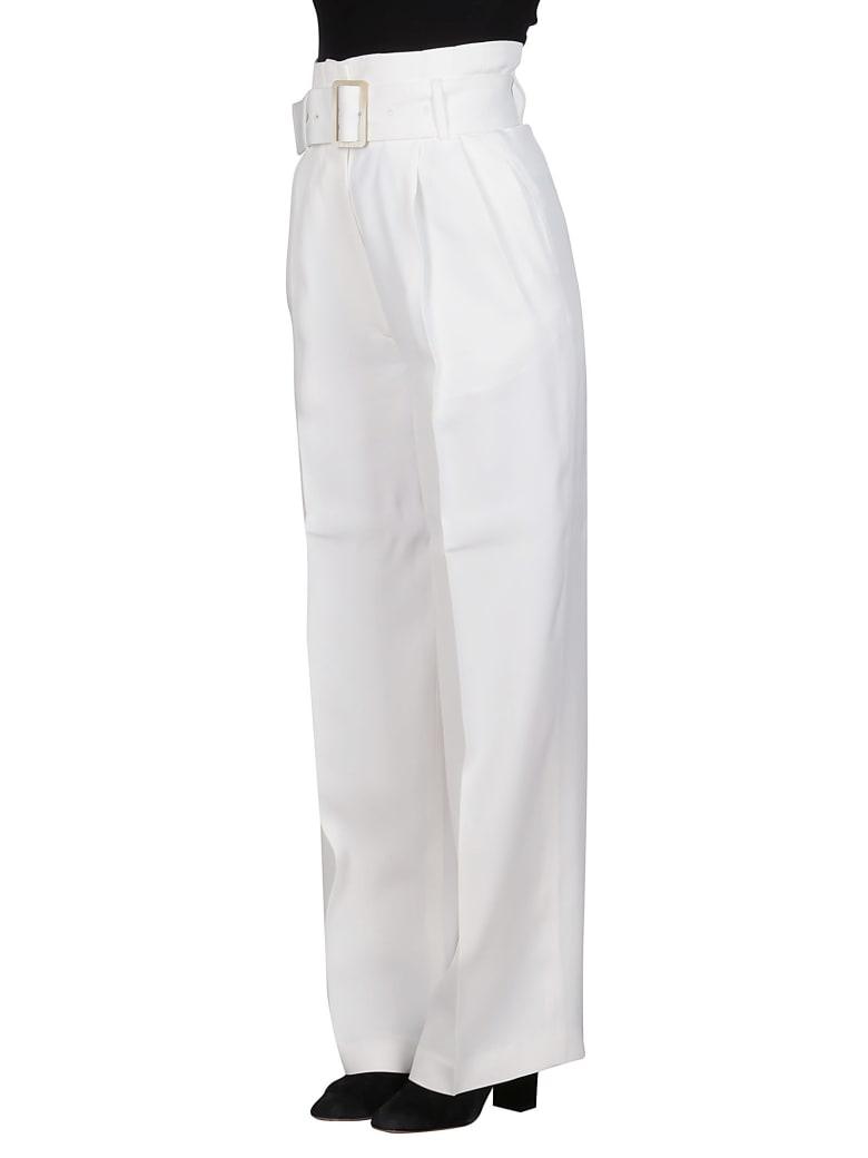 Golden Goose White Viscose Trousers - OPTIC WHITE