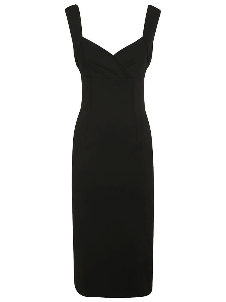 Dolce & Gabbana Rear Zip Sleeveless Dress - Black