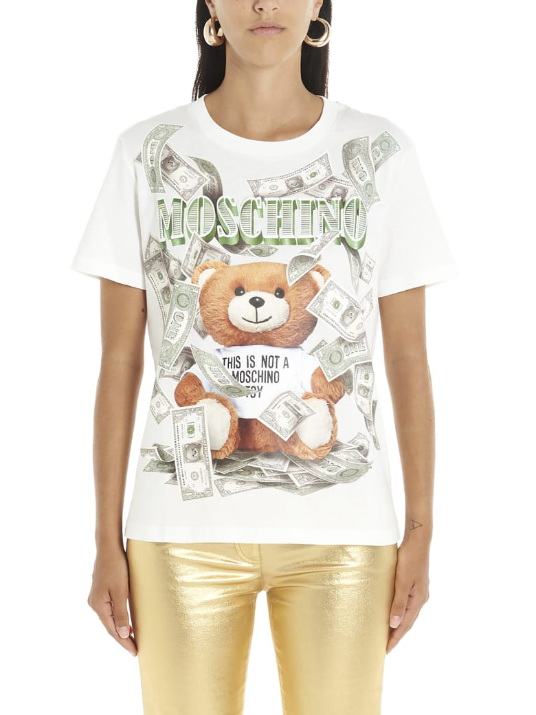 Moschino 'teddy Dollar' T-shirt - White