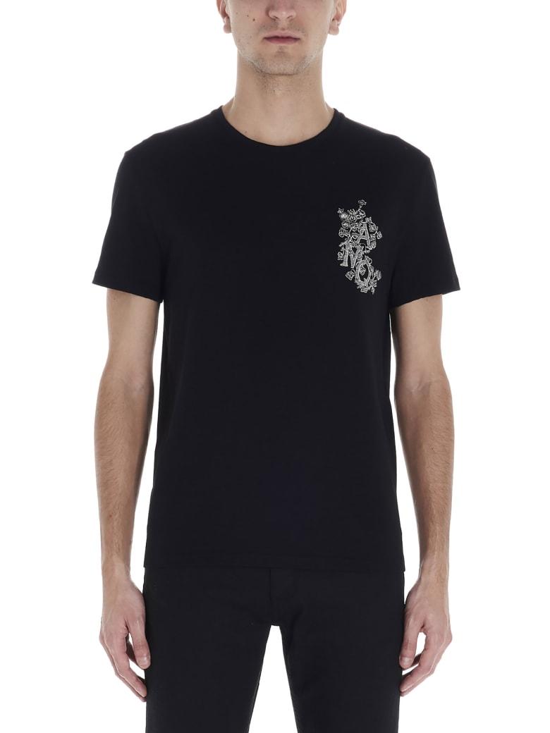 Alexander McQueen 'monogramme Edera' T-shirt - Black