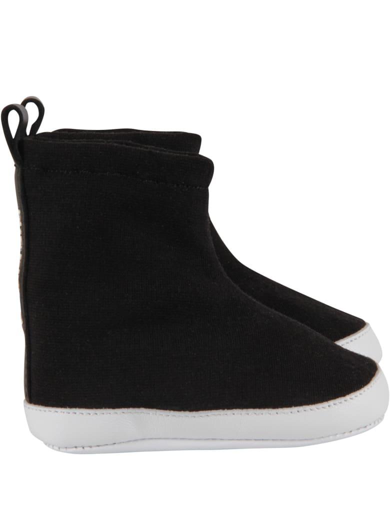 Balmain Black Sneakers For Babykids - Black