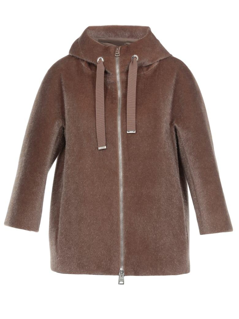 Herno Eco Fur Coat - BROWN