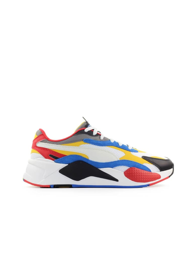 Best price on the market at italist | Puma Puma Rs-x3 Puzzle White Yellow  Sneaker