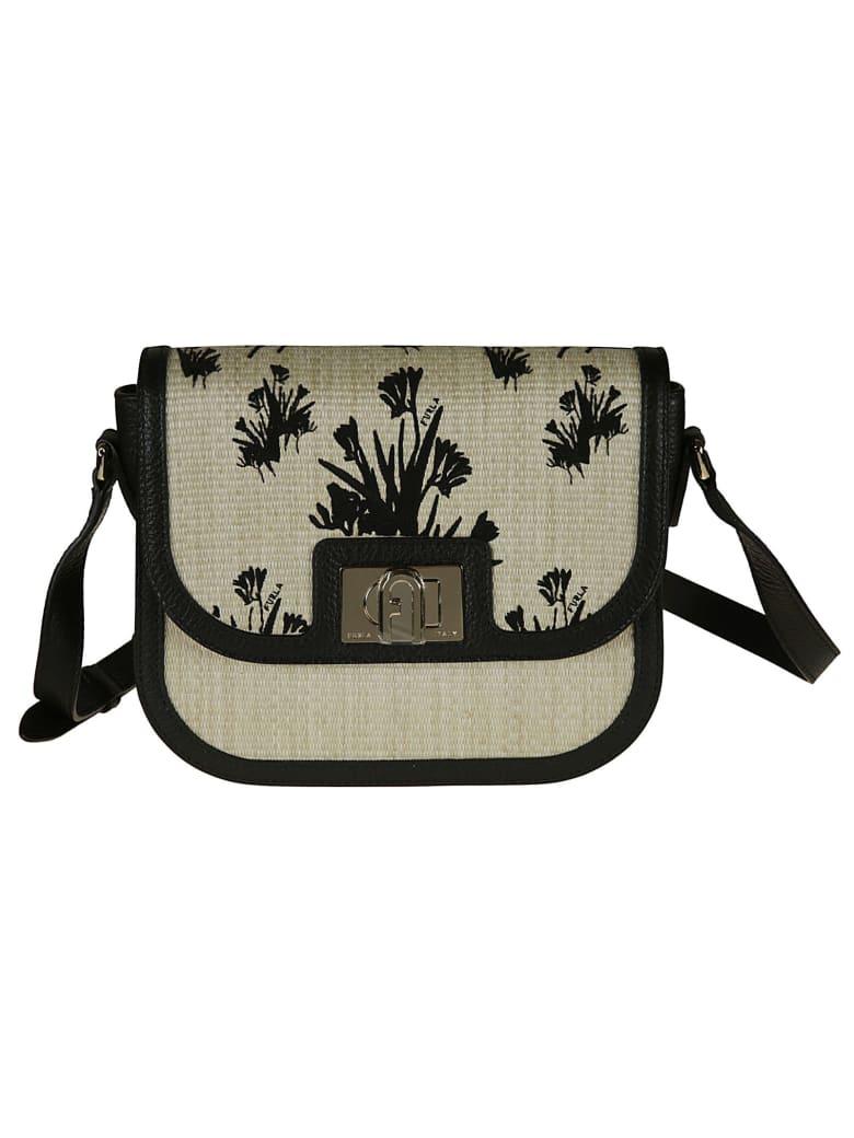 Furla Woven Flap Shoulder Bag - pink