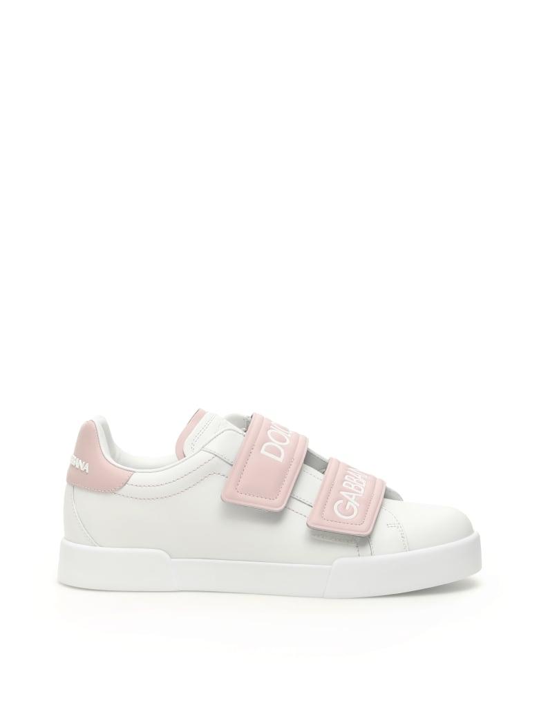 l'ultimo 1d9b2 d8159 Best price on the market at italist | Dolce & Gabbana Dolce & Gabbana  Velcro Portofino Sneakers