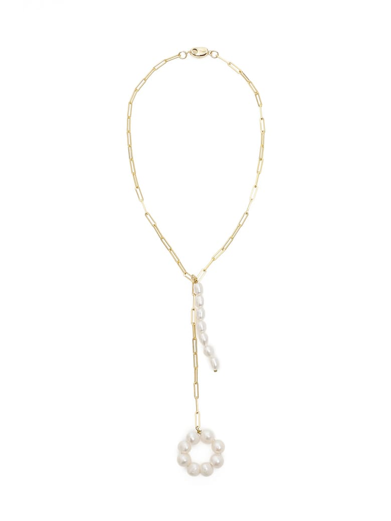 Timeless Pearly Chain Necklace With Pearls - VARIANTE ABBINATA (White)