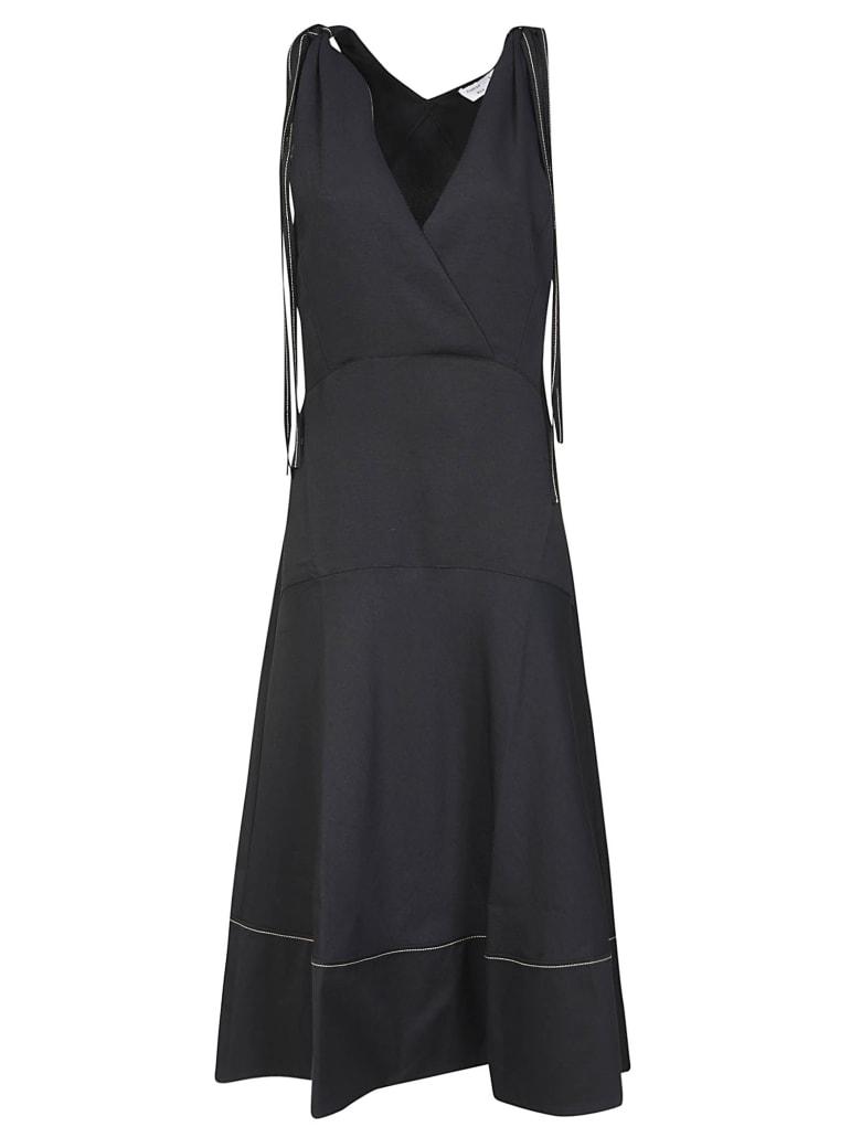 Proenza Schouler V-neck Flared Dress - Black