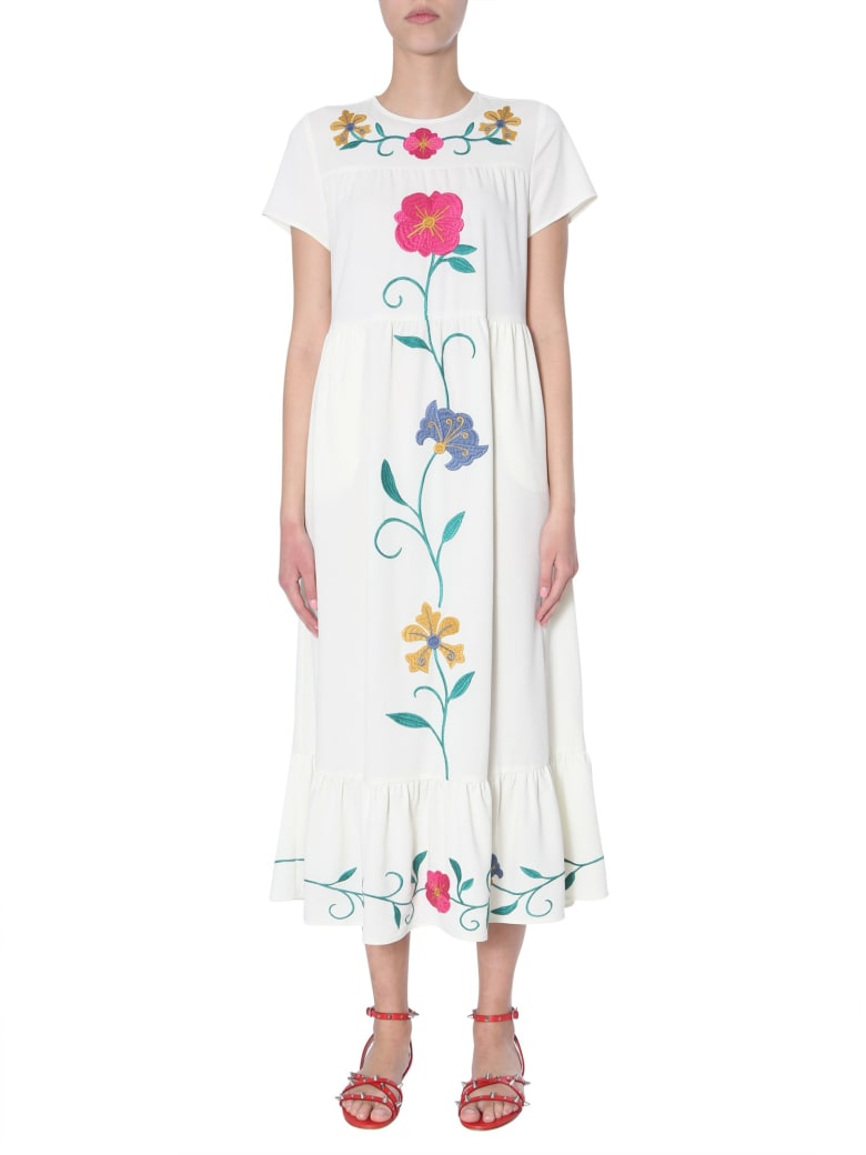 RED Valentino Sable Crepe Dress - BIANCO