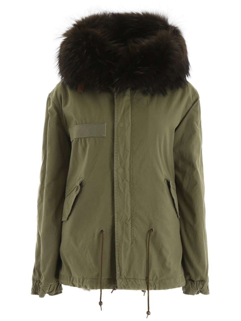 Mr & Mrs Italy Mini Parka With Fur - ARMY (Green)