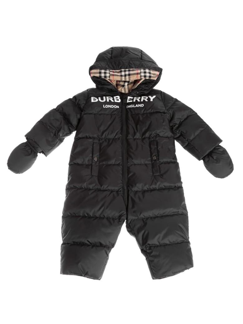 Burberry Skylar Logo Print Padded Snowsuit